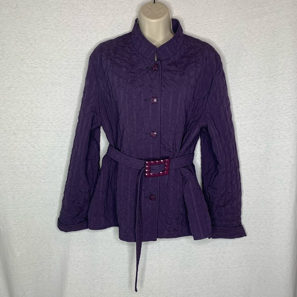 Picadilly Fashions L Quilted Look Belted Canada